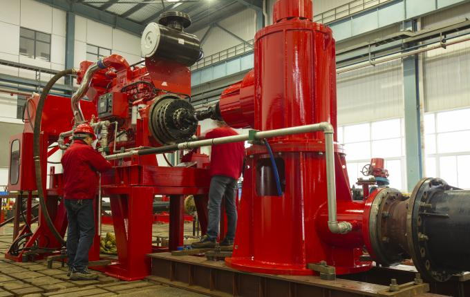 Ductile Cast Iron Vertical Turbine Pump  Vertical In Line Shaft Pump Multistage