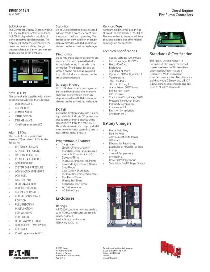 High Precision Diesel Fire Pump Control Panel For Fire Fighting UL / FM Approved