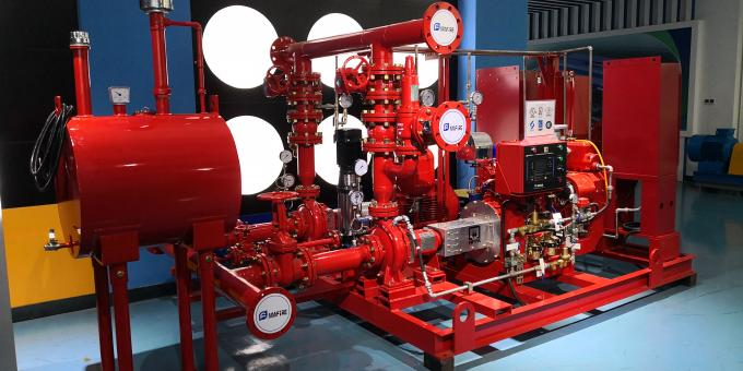 UL FM Approved Skid Mounted Fire Pump Package Ductile Cast Iron Materials