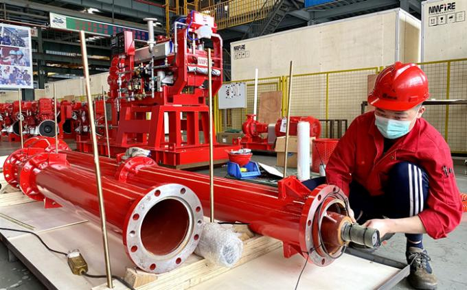 1000GPM@185PSI Skid Mounted Fire Pump NFPA20 Standard For Oil Terminals