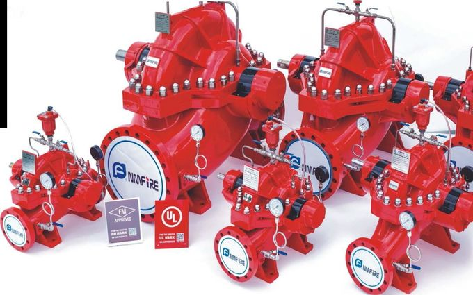 Impeller Centrifugal Pump Set With Jockey Pump UL Listed FM Approved Fire Pump Eaton controller